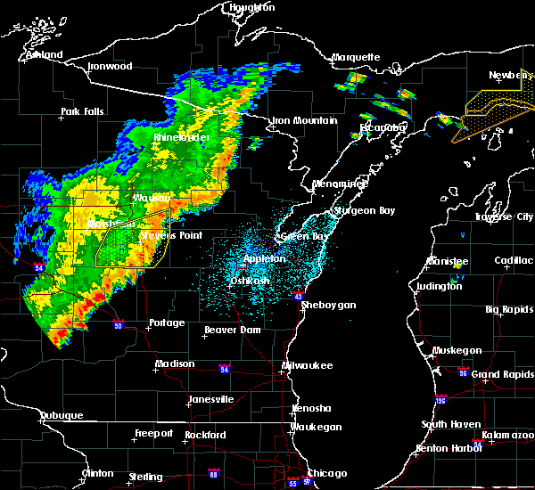 Radar Image for Severe Thunderstorms near Wisconsin Rapids, WI at 9/20/2018 10:59 PM CDT