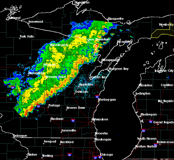 Radar Image for Severe Thunderstorms near Abrams, WI at 9/20/2018 11:44 PM CDT