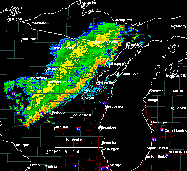 Radar Image for Severe Thunderstorms near Abrams, WI at 9/21/2018 12:00 AM CDT