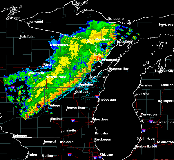 Radar Image for Severe Thunderstorms near Abrams, WI at 9/21/2018 12:11 AM CDT