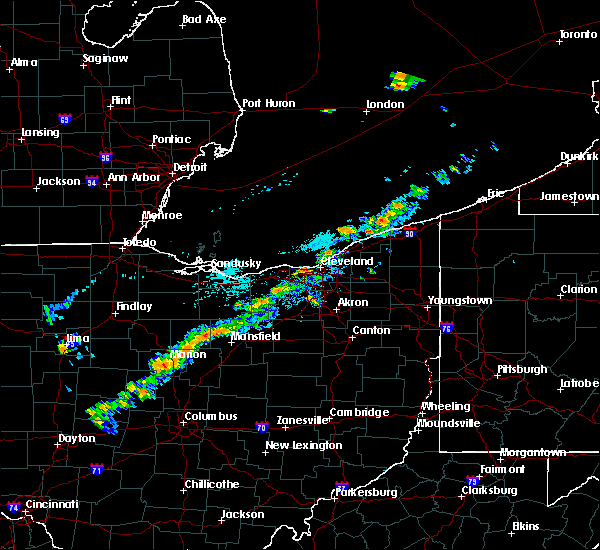 Radar Image for Severe Thunderstorms near Polk, OH at 9/21/2018 4:17 PM EDT