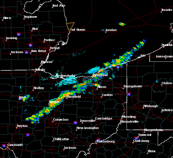 Radar Image for Severe Thunderstorms near Eastlake, OH at 9/21/2018 4:27 PM EDT