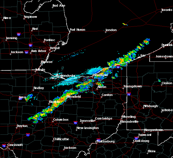 Radar Image for Severe Thunderstorms near Eastlake, OH at 9/21/2018 4:36 PM EDT
