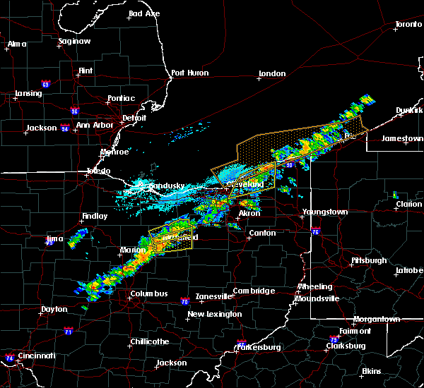 Radar Image for Severe Thunderstorms near Lucas, OH at 9/21/2018 4:39 PM EDT