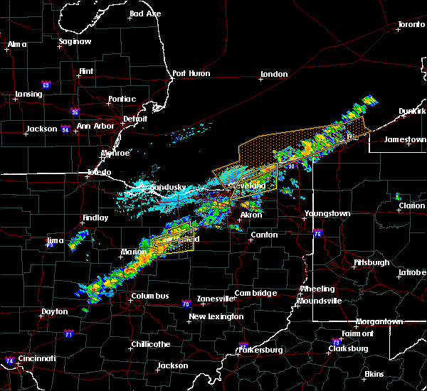 Radar Image for Severe Thunderstorms near Polk, OH at 9/21/2018 4:41 PM EDT