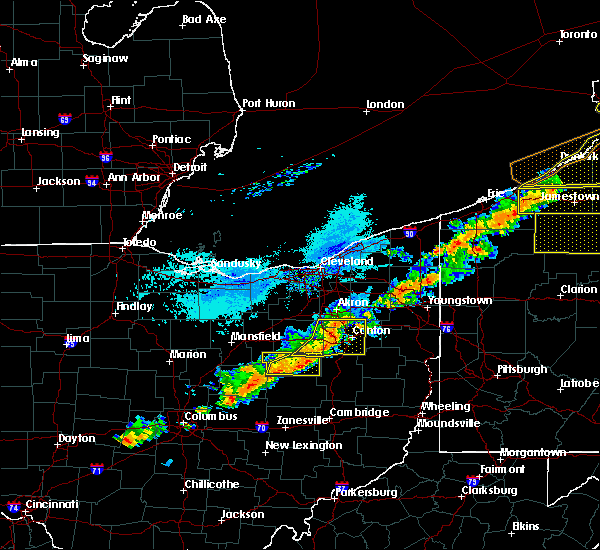 Radar Image for Severe Thunderstorms near Canal Fulton, OH at 9/21/2018 5:45 PM EDT