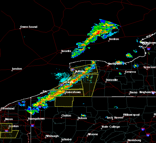 Radar Image for Severe Thunderstorms near Salamanca, NY at 9/21/2018 5:57 PM EDT