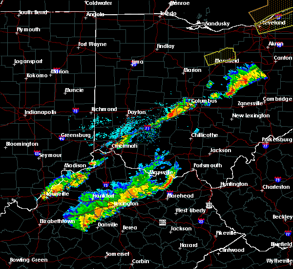 Radar Image for Severe Thunderstorms near Obetz, OH at 9/21/2018 6:09 PM EDT