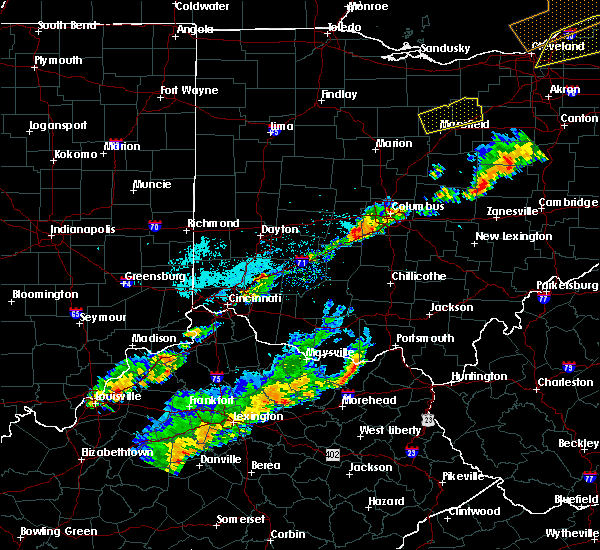 Radar Image for Severe Thunderstorms near Grove City, OH at 9/21/2018 6:15 PM EDT