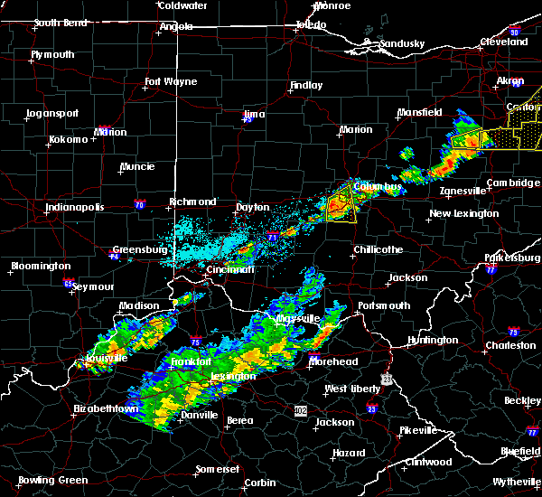 Radar Image for Severe Thunderstorms near Obetz, OH at 9/21/2018 6:25 PM EDT