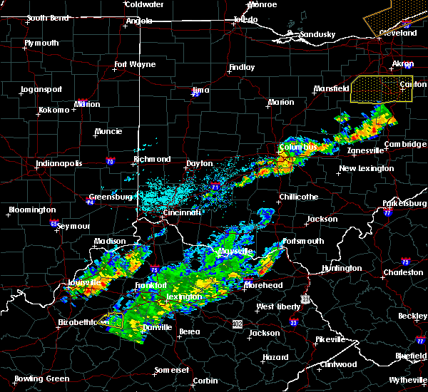 Radar Image for Severe Thunderstorms near Obetz, OH at 9/21/2018 6:40 PM EDT