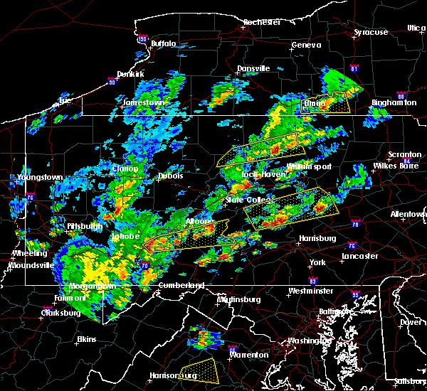 Radar Image for Severe Thunderstorms near Gordon, PA at 6/8/2015 3:33 PM EDT