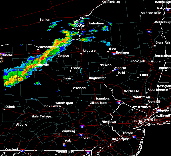 Radar Image for Severe Thunderstorms near Auburn, NY at 9/21/2018 7:07 PM EDT