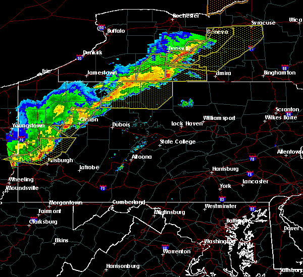 Radar Image for Severe Thunderstorms near Oswayo, PA at 9/21/2018 7:42 PM EDT
