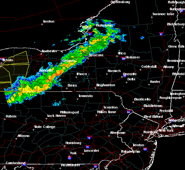 Radar Image for Severe Thunderstorms near Coopers Plains, NY at 9/21/2018 7:57 PM EDT