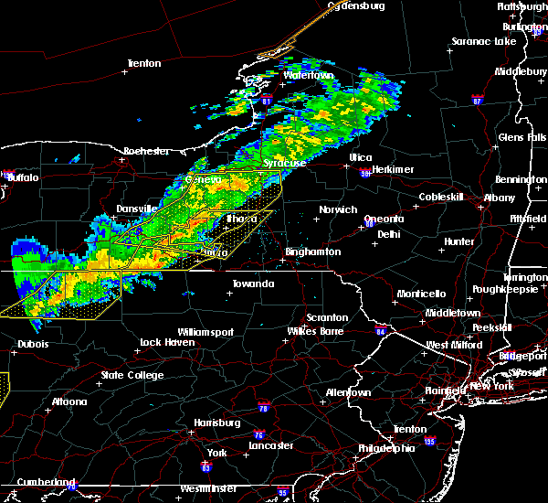 Radar Image for Severe Thunderstorms near Cortland West, NY at 9/21/2018 8:16 PM EDT