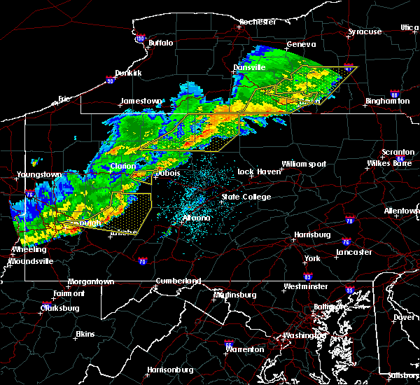 Radar Image for Severe Thunderstorms near Roulette, PA at 9/21/2018 8:34 PM EDT