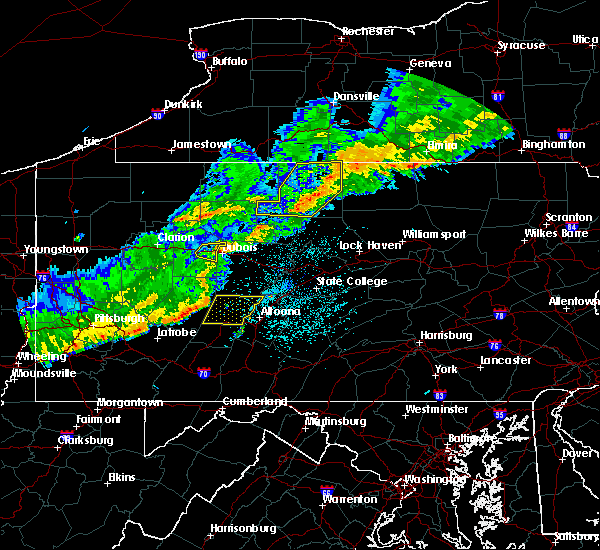 Radar Image for Severe Thunderstorms near Chest Springs, PA at 9/21/2018 8:53 PM EDT