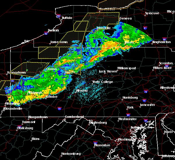 Radar Image for Severe Thunderstorms near Arnot, PA at 9/21/2018 9:01 PM EDT