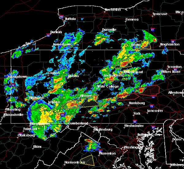 Radar Image for Severe Thunderstorms near Longfellow, PA at 6/8/2015 3:45 PM EDT