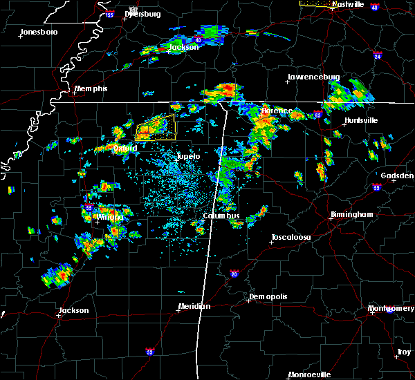 Radar Image for Severe Thunderstorms near Blue Mountain, MS at 6/8/2015 2:52 PM CDT