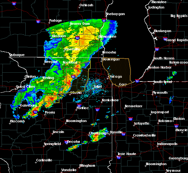 Radar Image for Severe Thunderstorms near Elgin, IL at 9/25/2018 4:45 PM CDT