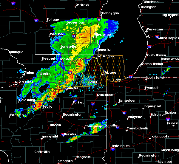 Radar Image for Severe Thunderstorms near Round Lake, IL at 9/25/2018 4:55 PM CDT