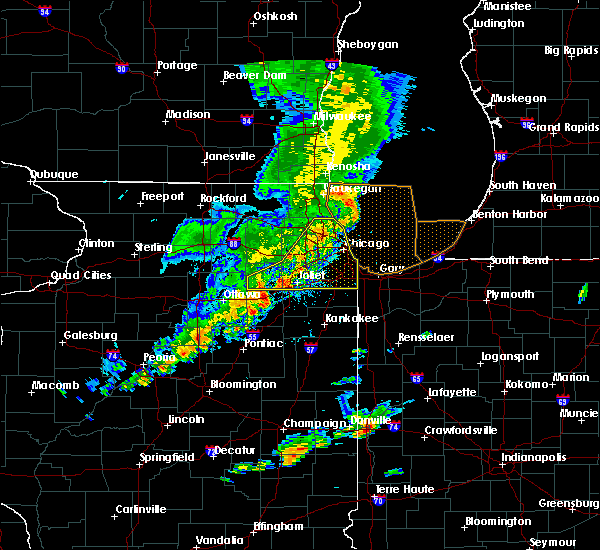 Radar Image for Severe Thunderstorms near Burnham, IL at 9/25/2018 5:38 PM CDT