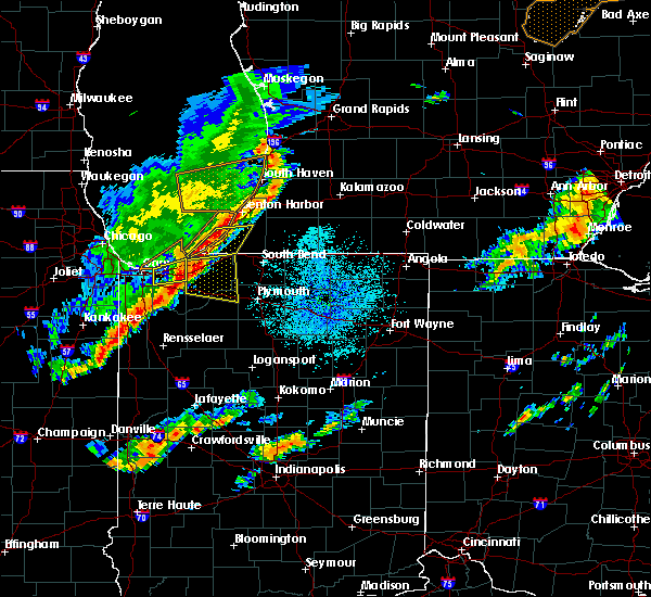 Radar Image for Severe Thunderstorms near New Troy, MI at 9/25/2018 8:13 PM EDT