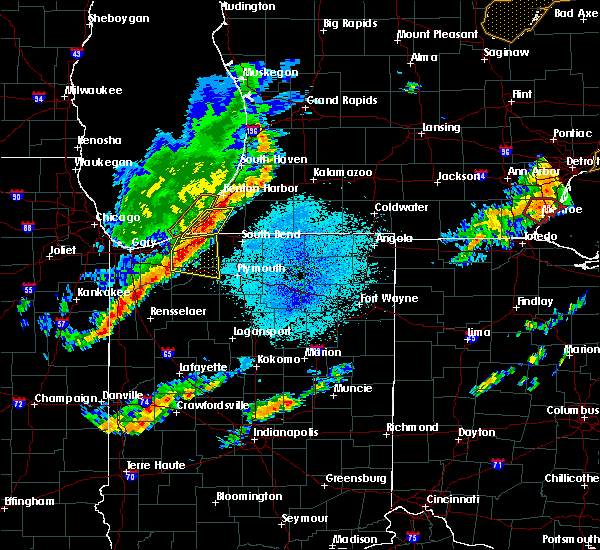Radar Image for Severe Thunderstorms near Kingsbury, IN at 9/25/2018 7:25 PM CDT