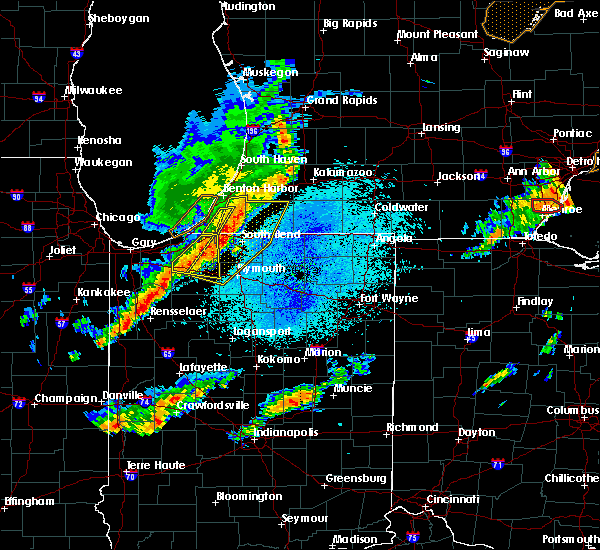 Radar Image for Severe Thunderstorms near New Troy, MI at 9/25/2018 8:38 PM EDT
