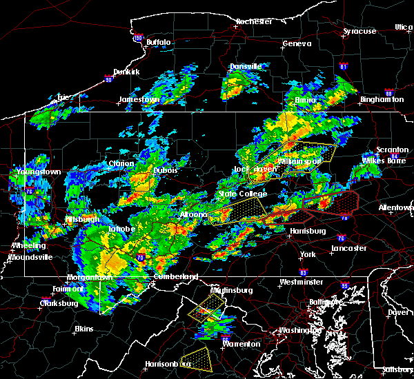 Radar Image for Severe Thunderstorms near Pillow, PA at 6/8/2015 4:03 PM EDT