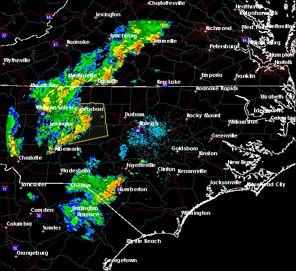 Radar Image for Severe Thunderstorms near Glen Raven, NC at 9/26/2018 6:40 PM EDT