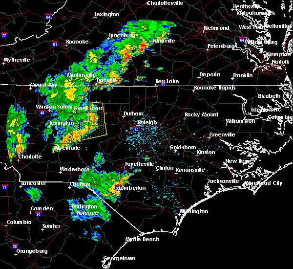 Radar Image for Severe Thunderstorms near Glen Raven, NC at 9/26/2018 6:56 PM EDT