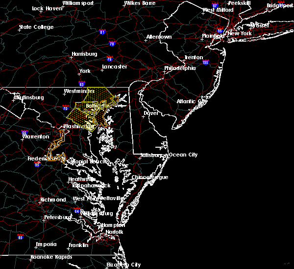 Radar Image for Severe Thunderstorms near Riverside, MD at 9/26/2018 6:58 PM EDT