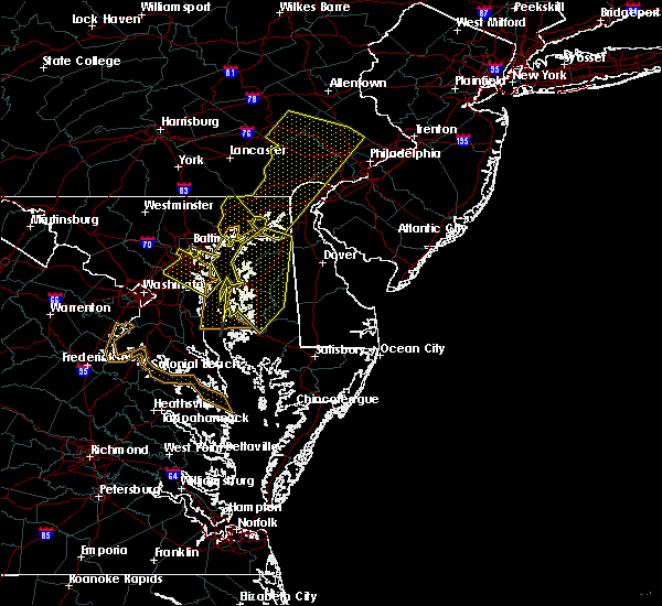 Radar Image for Severe Thunderstorms near Riverside, MD at 9/26/2018 7:32 PM EDT
