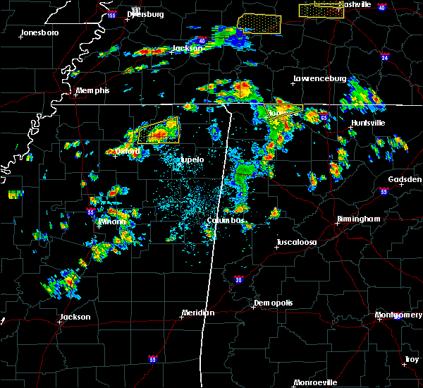 Radar Image for Severe Thunderstorms near New Albany, MS at 6/8/2015 3:10 PM CDT