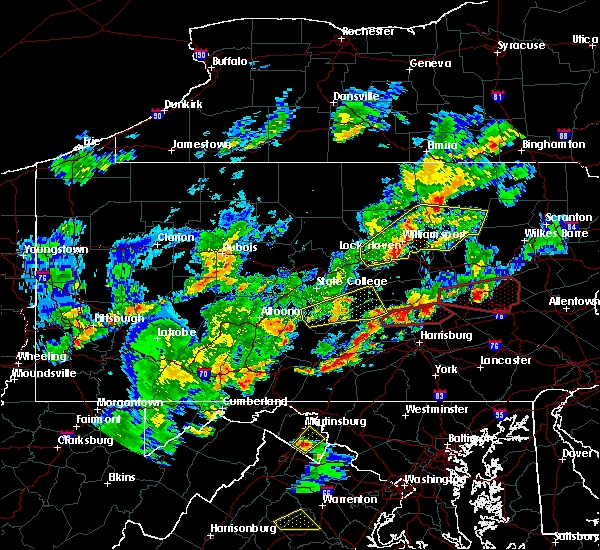 Radar Image for Severe Thunderstorms near Gordon, PA at 6/8/2015 4:09 PM EDT