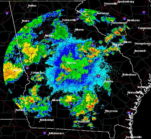 Radar Image for Severe Thunderstorms near Warrenton, GA at 9/26/2018 8:27 PM EDT