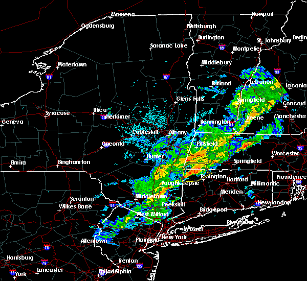 Radar Image for Severe Thunderstorms near Canaan, CT at 9/26/2018 8:27 PM EDT