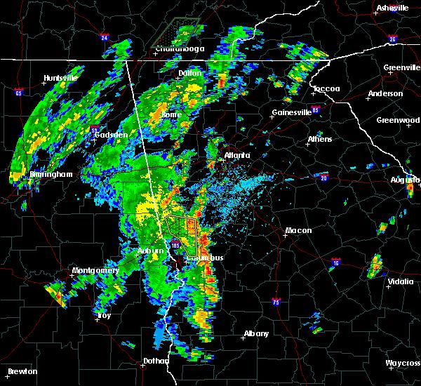 Radar Image for Severe Thunderstorms near Columbus, GA at 9/27/2018 3:26 PM EDT