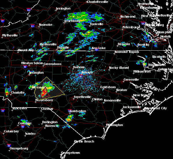 Radar Image for Severe Thunderstorms near Biscoe, NC at 9/27/2018 3:31 PM EDT