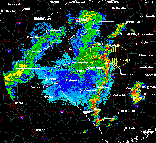 Radar Image for Severe Thunderstorms near Harrisburg, NC at 9/27/2018 8:48 PM EDT