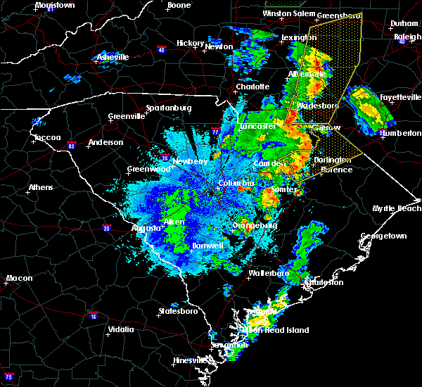 Radar Image for Severe Thunderstorms near Gibson, NC at 9/27/2018 11:10 PM EDT