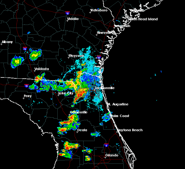 Radar Image for Severe Thunderstorms near Macclenny, FL at 9/28/2018 7:39 PM EDT