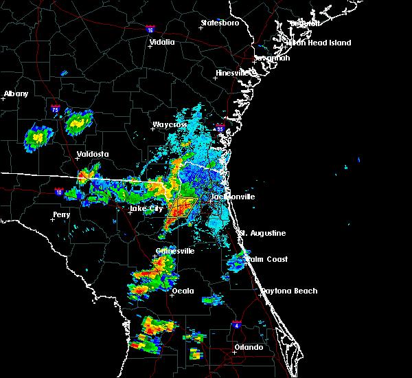Radar Image for Severe Thunderstorms near Jacksonville, FL at 9/28/2018 7:39 PM EDT