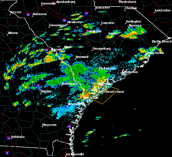 Radar Image for Severe Thunderstorms near Bluffton, SC at 9/29/2018 1:25 PM EDT