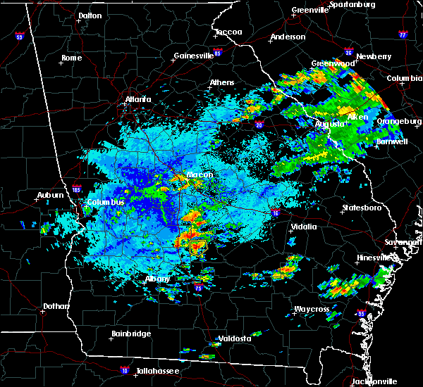 Radar Image for Severe Thunderstorms near Pitts, GA at 9/29/2018 4:28 PM EDT