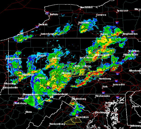 Radar Image for Severe Thunderstorms near New Buffalo, PA at 6/8/2015 4:22 PM EDT