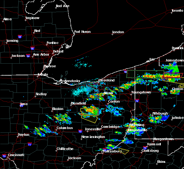 Radar Image for Severe Thunderstorms near Nellie, OH at 10/2/2018 4:37 PM EDT